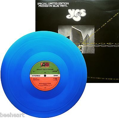 "YES Blue Vinyl 12"" Disc WONDEROUS STORIES / PARALLELS * Limited Edition *"