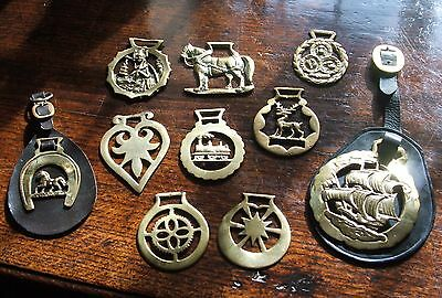 Vintage Horse Brass collection, 10 items!