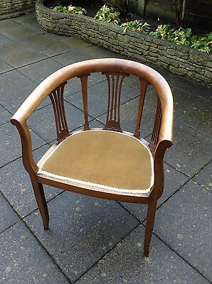 antique edwardian occasional chair