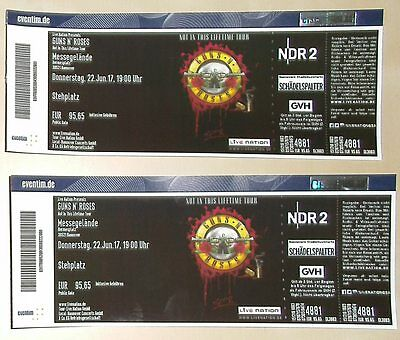 2 x Guns N Roses Tickets 22.06.2017 in Hannover zur Not in this Lifetime Tour