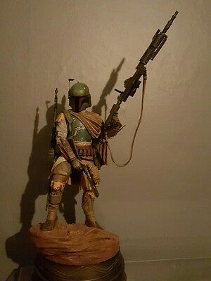 Boba Fett Star Wars mythos sideshow statue prop with box mint