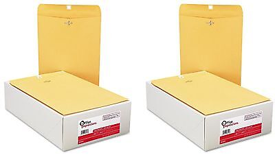 Office Impressions - Clasp Envelopes, 9 x 12, Brown Kraft - 100 Count  *2 pack*