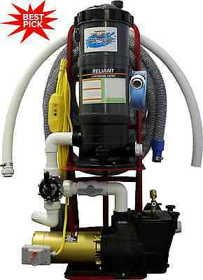 TOP GUN™ PRO PORTABLE POOL VACUUM CLEANER 1.5 HP HAYWARD PUMP w/VINYL HEAD