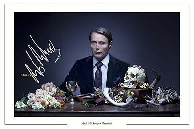 4x6 SIGNED AUTOGRAPH PHOTO PRINT OF MADS MIKKELSEN HANNIBAL #42