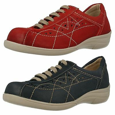 Ladies Db Easy B Hornsea Wide Fit Lace Up Casual Flat Leather Trainers Shoes