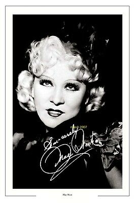 4x6 SIGNED AUTOGRAPH PHOTO PRINT OF MAE WEST #38