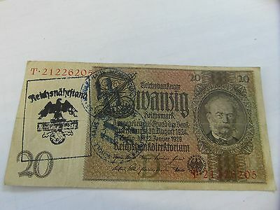 Germany occupation banknote WWII/WW2 45