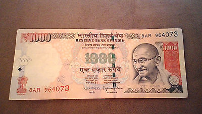 Indian Rupee old Rs 1000 banknote