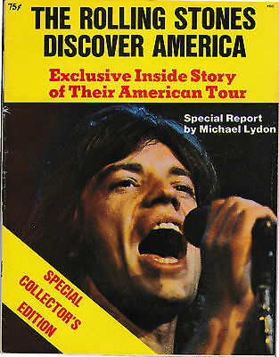 THE ROLLING STONES DISCOVER AMERICA by MICHAEL LYDON 1970 published by RAMPARTS