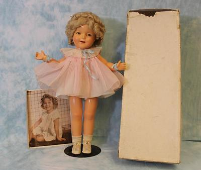"Early 21"" 1936 Ideal Shirley Temple Doll w/ box and picture, original & tagged"