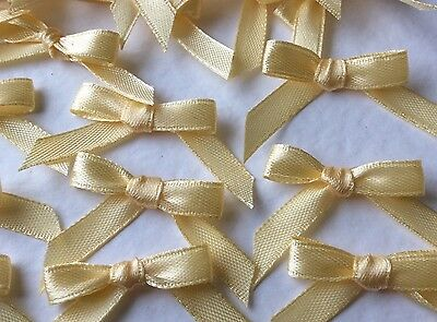 10 Pretty Ice Cream 6mm Ribbon bows -card making/scrap booking  -help charity