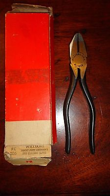 Williams Side Cutting Lineman's Pliers No. PL-206- Nos !