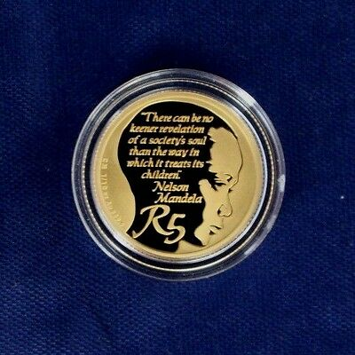 "2013 S Africa Gold Proof 1/10oz coin ""Nelson Mandela"" in Case with COA  (AR1/16)"