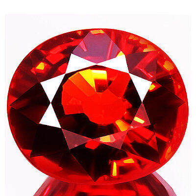 1.50ct FLAWLESS NATURAL EARTH MINED LOOSE GEMSTONE RED SPESSARTITE GARNET AFRICA