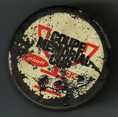 Late 1970's Game Used Memorial Cup Hockey Puck