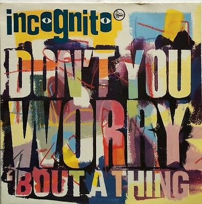 """Incognito - Don't You Worry 'Bout a Thing - Talkin' Loud Records 12"""" Single"""