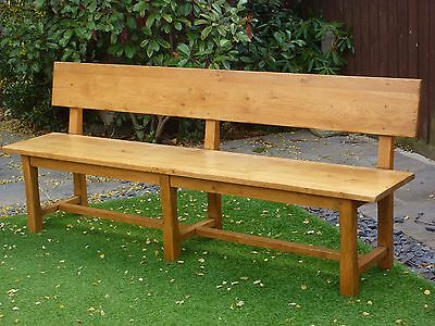 PIERSON LARGE SOLID FRENCH OAK DINING BENCH RUSTIC 2.2m