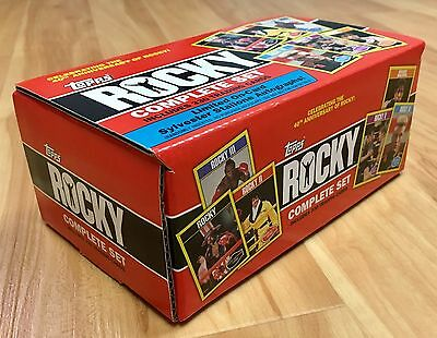 2016 Topps ROCKY 40th ANNIVERSARY COMPLETE SET Trading Cards SYLVESTER STALLONE