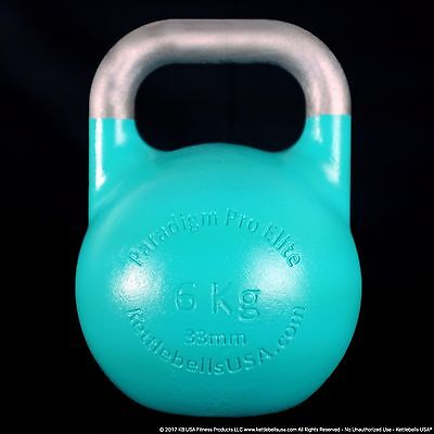 6 kg-13 lb Paradigm Pro ELITE 33mm Handle Competition Kettlebell *FREE SHIPPING*