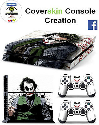 SKIN PS4 Console BATMAN E JOKER  LIMITED COVER Skin DECAL controllers