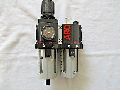 Ingersoll Rand C38231-600 Filter, Regulator & Lubricator with Gage.