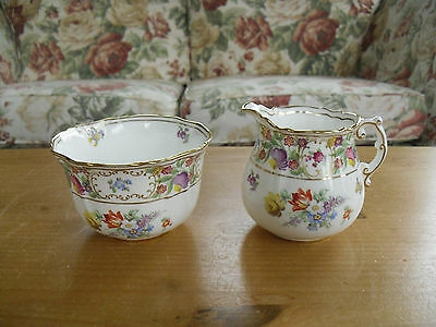 Hammersley Dresden Sprays Milk Jug & Sugar Bowl Set - 2 available