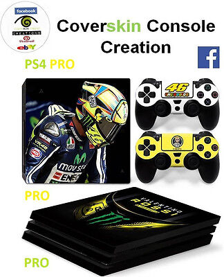 SKIN PS4 PRO Console VALENTINO ROSSI VR46 LIMITED COVER Skin DECAL controllers