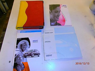Seat Arosa MK1 Owners Handbook including rare wallet.