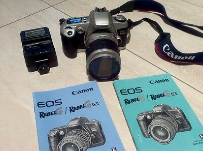 Canon EOS-Rebel G QD 35mm SLR Film Camera Body lens flash