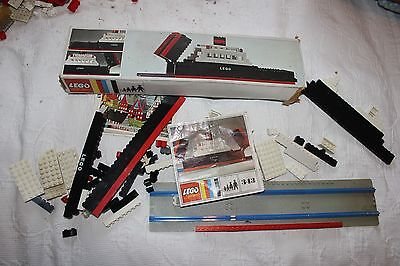 Vintage Lego ferry boat 343 boxed with baseplate but incomplete