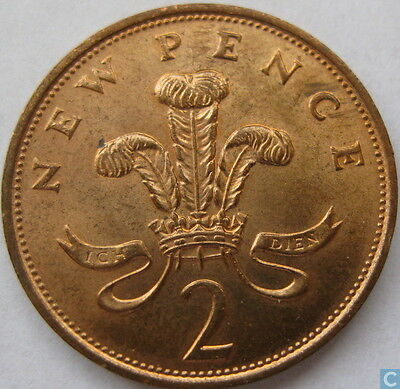 NEW PENCE 2p VERY RARE COINS! UK Dates 1971 - 1980