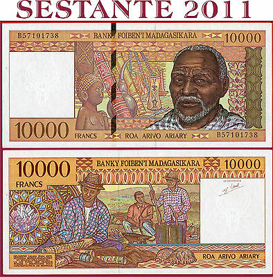 MADAGASCAR - 10.000 10000 FRANCS = 2.000 Ariary  nd 1995 -  P 79b - FDS / UNC