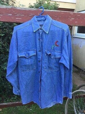 Bruce Springsteen  roadie Crew Tour Jeans Shirt , Very Rare 80's/90's