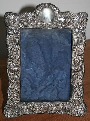 Antique Hallmarked Birmingham 1903 Solid Silver Antique Picture Frame