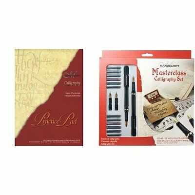 Manuscript Calligraphy Masterclass Pen Gift Set With Guide Book + Practice Pad