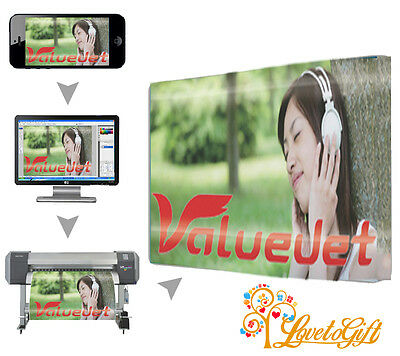 """CANVAS PRINT A0 46""""x32"""" Large Personalised Your PHOTO/PICTURE 18mm Frame, 280gsm"""