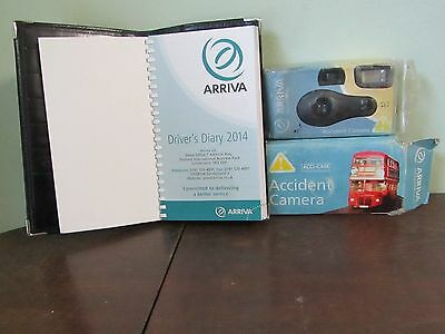 Arriva Bus Drivers Diary And Leather Holder and 2 Accident Camera's