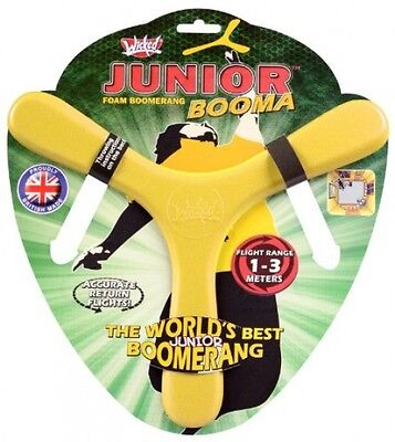 Junior Booma Foam Boomerang Wicked Flight Range 1-3 Meters Accurate Return NEW