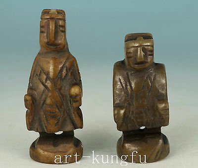 Chinese Old Jade Collection Handmade Carved Figure Statue Figure Decoration