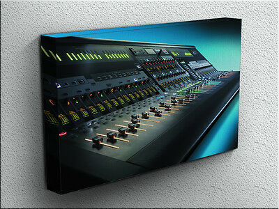 AUDIO MIXER LARGE 30 x 20 inches CANVAS PRINT HIGH QUALITY wall art picture