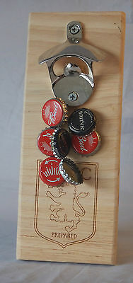 Aston Villa Football   Wall Mounted Bottle Opener  MAKES A GREAT GIFT FOR A DAD