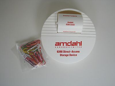 Vintage Amdahl 6390 Direct-Access Storage Device Advertising Paper Clip Dispense