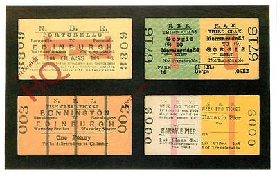 Postcard: TICKET SELECTION FROM THE NORTH BRITISH RAILWAY [DALKEITH]