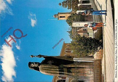 Postcard: Nicosia, St. John's Cathedral, Makarios Statue