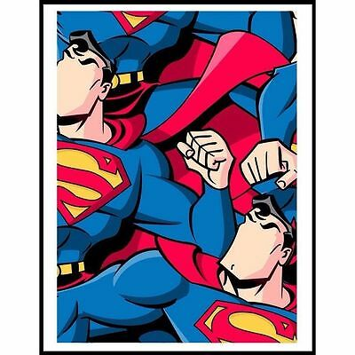 Jerkface Superjerk Superman Poster Art Print Movie Comic Street Art