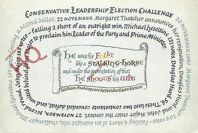 Postcard: Conservative Party Leadership Election Challenge 1990 [Ph Topics]