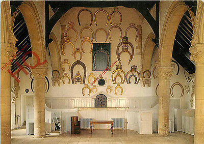 Postcard: Oakham Castle, Interior of Great Hall, Horseshoes