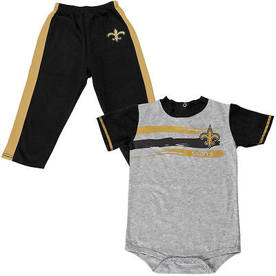 New Orleans Saints Baby Infant Creeper Pants Gift Set (FREE SHIPPING) 6-9 months