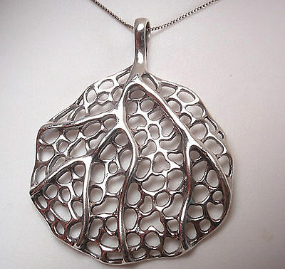 Large Tree of Life Pendant 925 Sterling Silver Corona Sun Heavy over 11 Grams