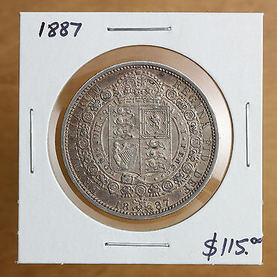 Great Britain - 1887 - 1/2 Crown – #583